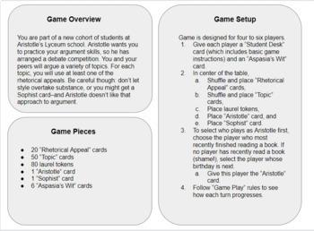 Lyceum Game: Practice Using Rhetorical Appeals in Argument