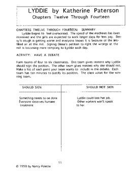 Lyddie Literature Guide