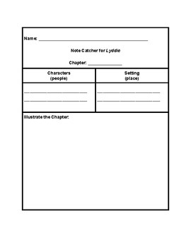 Lyddie Adapted Notecatcher (Notes Organizers)