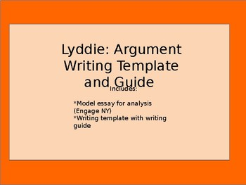 Lyddie Argument writing guide