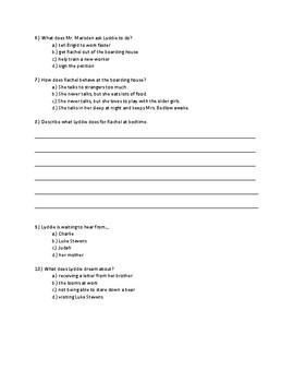 Lyddie Chapter 15 Quick Quiz