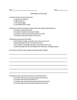 Lyddie Chapter 17 Quick Quiz