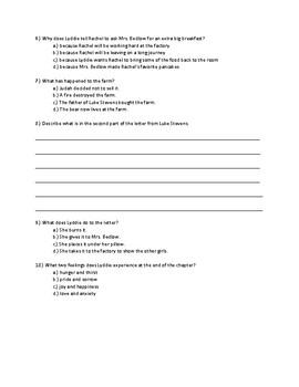 Lyddie Chapter 18 Quick Quiz