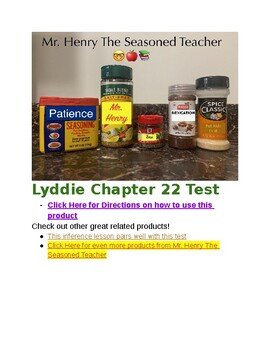 Lyddie Chapter 22 Assessment