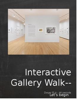 Lyddie Interactive gallery walk