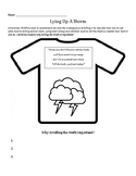 Lying Up A Storm: Why telling the truth is important! worksheet