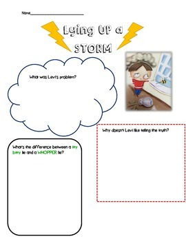 Lying Up a Storm- An activity about lying and telling the truth
