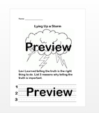 Lying Up a Storm By Julia Cook Activity