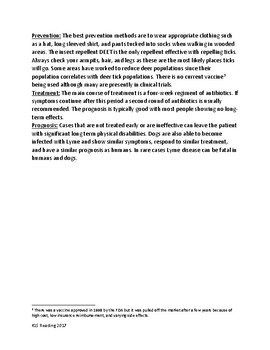 Lyme Disease lesson - history, symptoms, treatment, facts info review questions