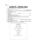 Lyndon B. Johnson Fill-in-the-Blank Quiz