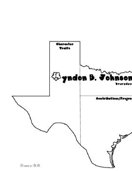 Lyndon B. Johnson LBJ Graphic Organizer