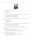 Lyndon B. Johnson (LBJ) Quiz/Worksheet