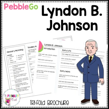 Lyndon B. Johnson PebbleGo research brochure
