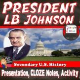 President Lyndon B. Johnson Lecture & Speech Print & Digital