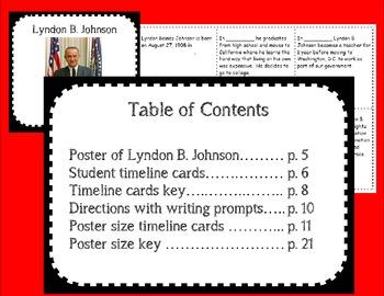 Lyndon B. Johnson Timeline Maker Set
