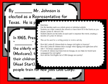 lyndon b johnson timeline maker set by tab purvis tpt