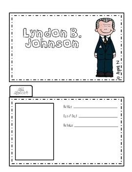 Lyndon B. Johnson Writing Tab Book