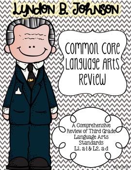 Lyndon B. Johnson's Language Review {Common Core Language Arts Practice}