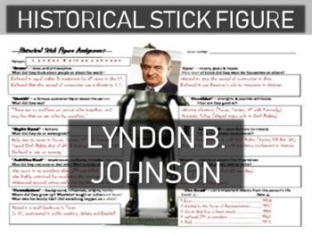 Lyndon Baines Johnson Historical Stick Figure (Mini-biography)