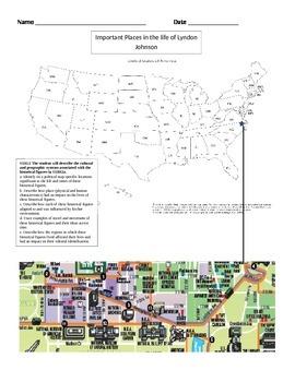 Lyndon Johnson Historical Figures Map
