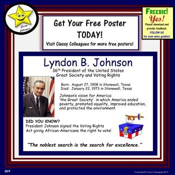 Lyndon Johnson Poster