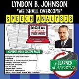 Lyndon Johnson We Shall Overcome Speech Analysis and Writing Activity, Google