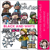 Lyndsey's catching snowflakes by Melonheadz BLACK AND WHITE
