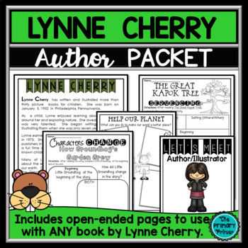 Lynne Cherry:  An Author Study Packet