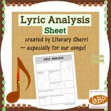Lyric Analysis: any song
