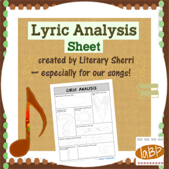 Lyric Analysis: any song