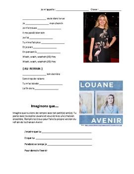Lyric Gap - Avenir by Louane | Texte à trous  : FSL 7-12 Listening Comprehension