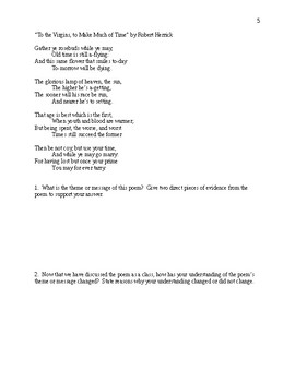 Lyric Poetry - Comprehensive Study Guide Packet - CCSS Aligned