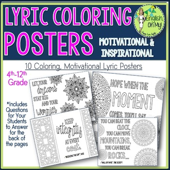 Lyric, Song Coloring Pages