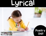 Lyrical Poetry {Poetry Unit}
