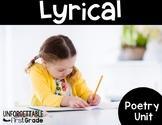 Lyrical Poetry {Poetry Unit}
