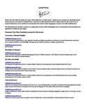 Lyrical Poetry: Song Analysis