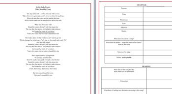 Lyrics-Music (Grammar, Novel/Literature/Real-Life Connections)- SHUT UP & DANCE