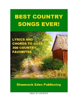 Lyrics and Guitar Chords for 300 Country Music Songs!