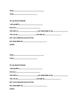 Lyrics fill in blank to Mr. Lee Scientific Method