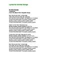 Lyrics for Great Animal Songs