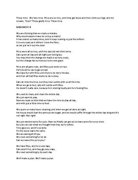 "Lyrics to ""We Need Some Pets!""  25-min music program K-5"