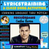LyricsTraining & Cloze Song Activities - Recuérdame (Remember Me)