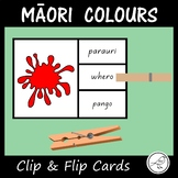 Māori Colours  -  'Clip and Flip' cards.
