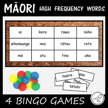 Māori High Frequency Words  -  BINGO