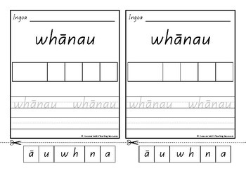 Māori High Frequency Words – Cut, Glue, Trace, Write – Set B
