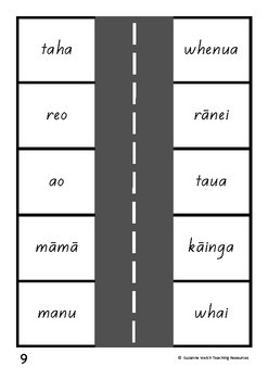 Māori High Frequency Words – Park the car