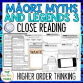Māori Myths and Legends 3 Reading Texts and Activities Higher Order Thinking NZ