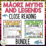 Māori Myths & Legends BUNDLE New Zealand Reading Texts Higher Order Thinking