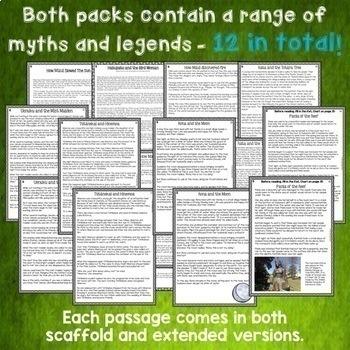 Māori Myths & Legends MEGA BUNDLE NZ Reading Texts Higher Order Thinking