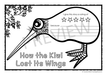 Māori Myths and Legends  -  How the Kiwi Lost its Wings